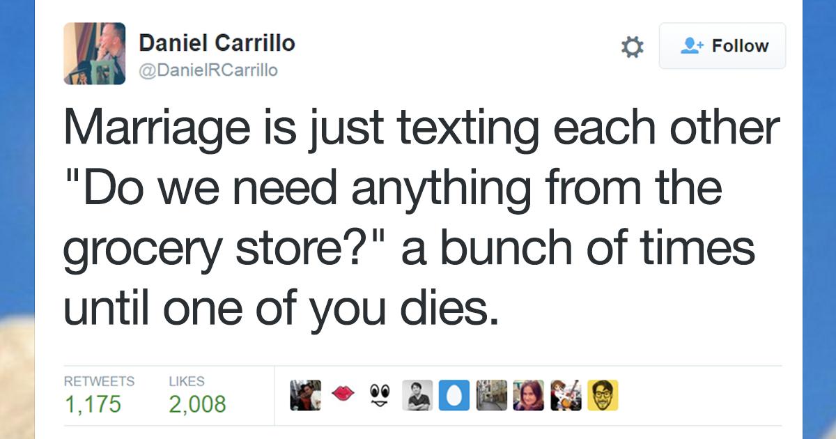 dating vs marriage tweets dating fehler frauen