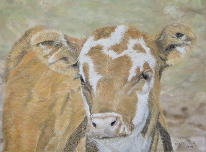 Mooooove Over Chalk Pastel. I Have Found My New Medium For Custom Animal Portraits!