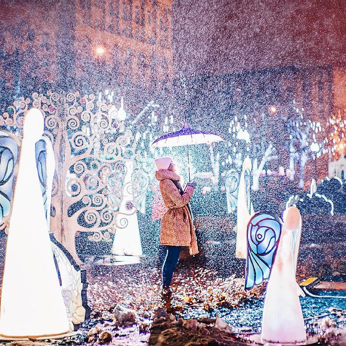 Moscow City Looked Like A Fairytale During Orthodox Christmas