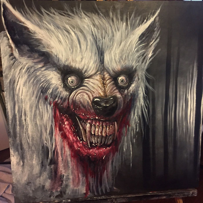 My Latest Horror Paintings Created With Oil Bored Panda
