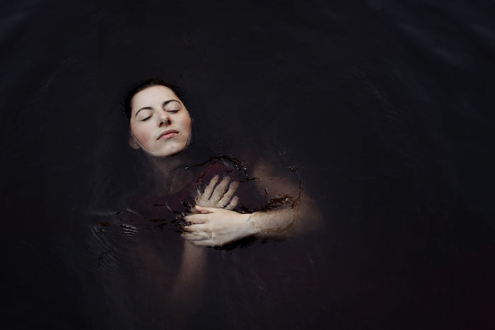 My Self-Portraits Are Not Ment To Represent Myself, They Show A Deeper Meaning