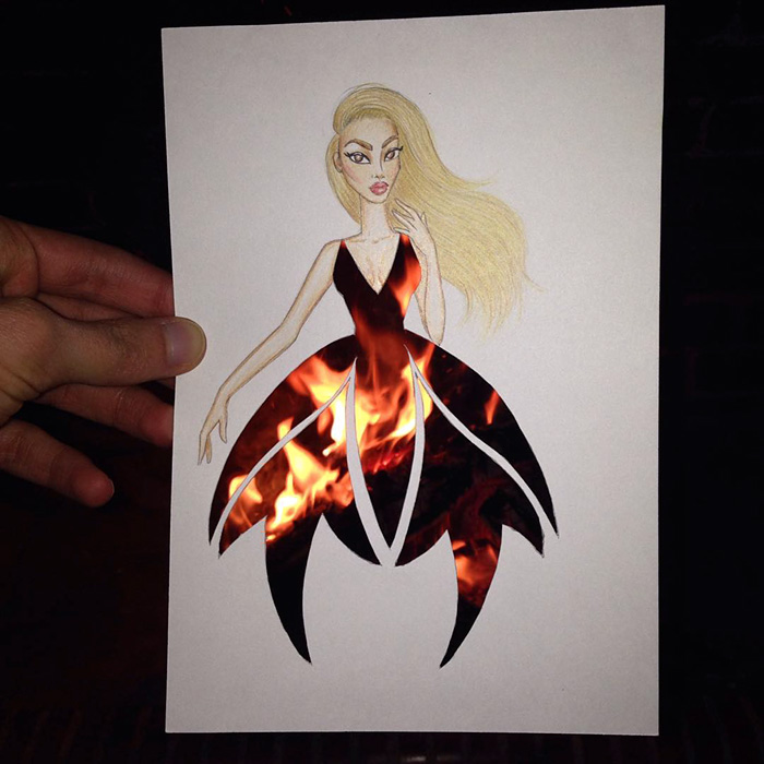 Artis Design : Armenian illustrator completes his cut out dresses with