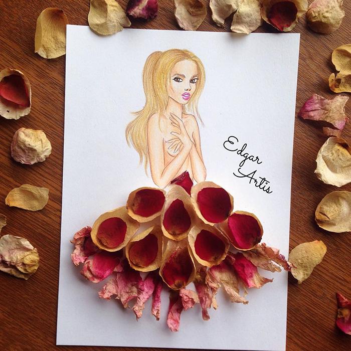 Paper Cut-out Dresses