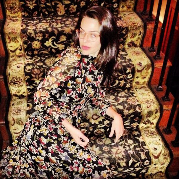 Camouflage Level: My Godmother's Ex-Sister-In-Law On The Stairs