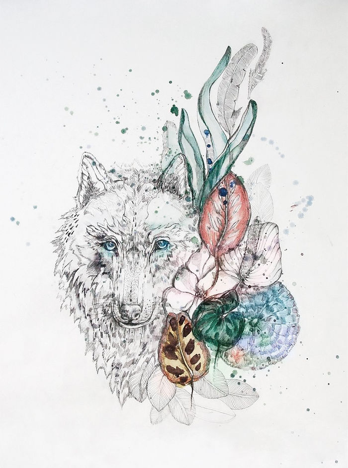 Polish Artist Creates Stunning Nature-Inspired Drawings