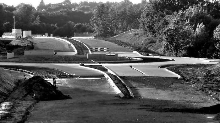 Road Construction In Limburg, Holland.