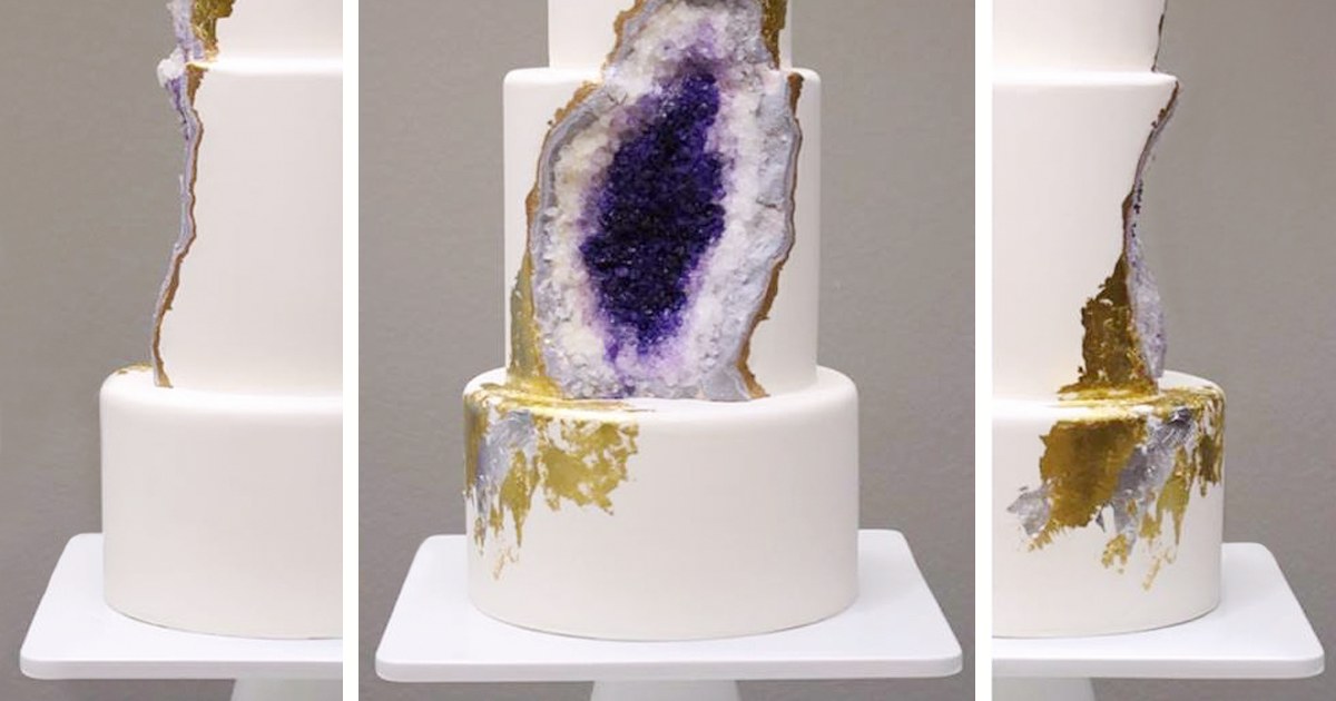 Amethyst Wedding Cake Whose Baker Was Clearly Under A Lot Of Pressure