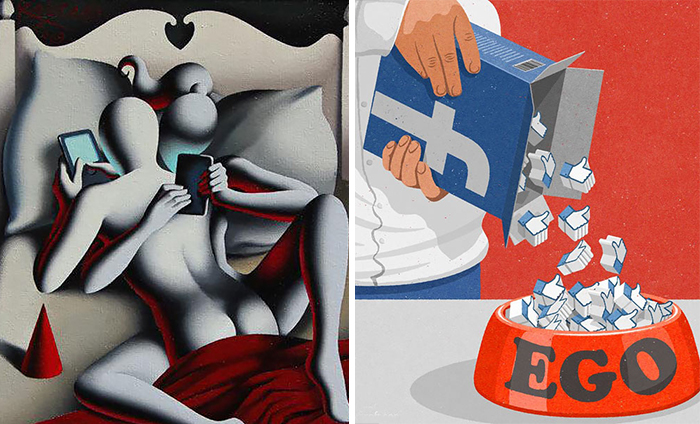 81 Satirical Illustrations Show Our Addiction To Technology