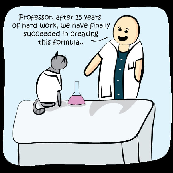 Science Cat Funny Comic Pearls Of Raw Nerdism on Art Writing