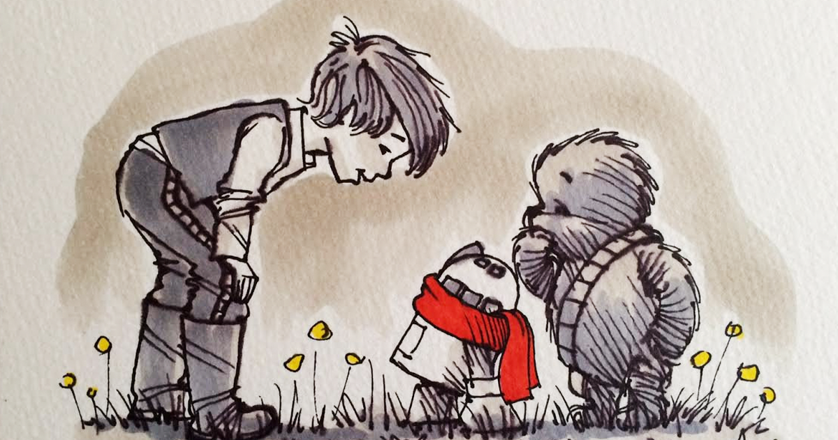 Star Wars Characters Reimagined As Winnie The Pooh And