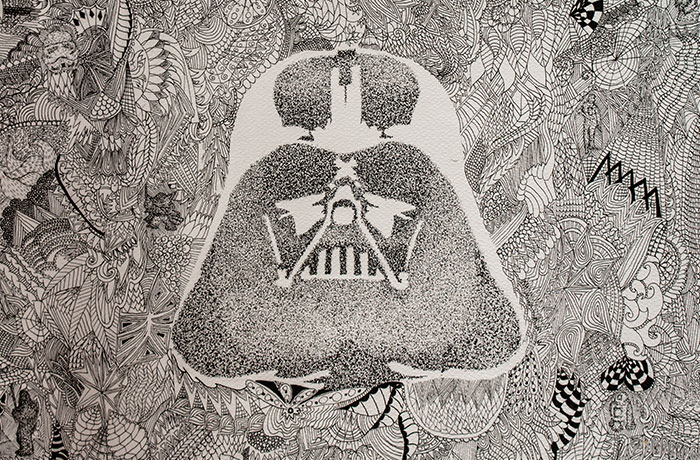 I Drew Star Wars Characters Using Zentangle And Dotworks Techniques