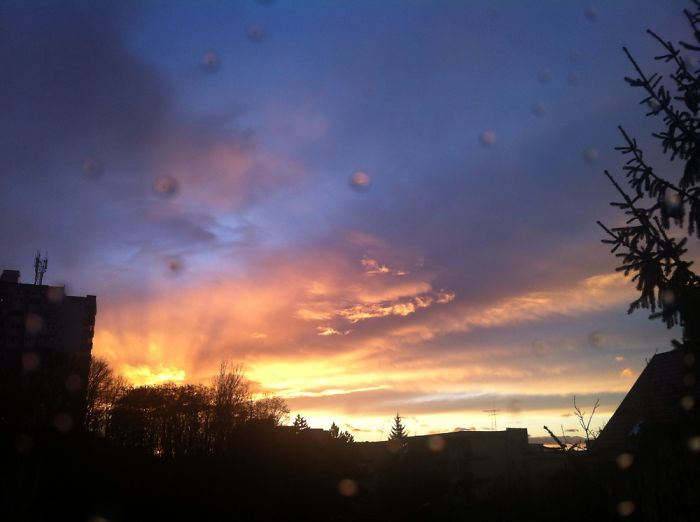 The Beauty Of A Single Sunset After A January Rain In Târgu-mureș, Romania…