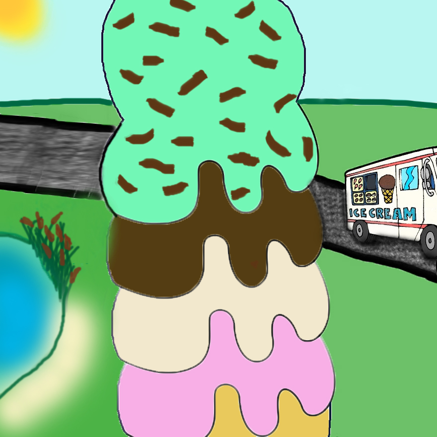 Ice Cream Cone- Stacked