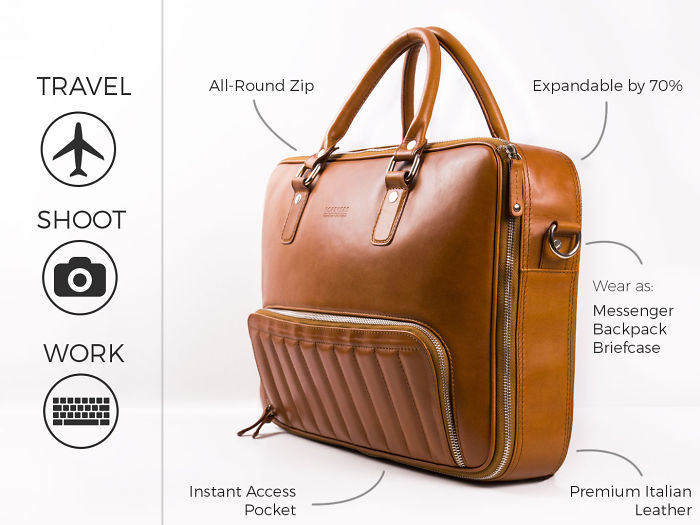 The One Bag For All Your Activities. Travel | Shoot | Work