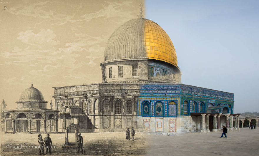Then And Now: I Merged 150 Year Old Pics Of Israel With My Recent Photos
