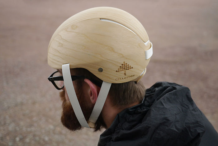 This All-wood Bike Helmet Replaces Styrofoam With A Biodegradable Material