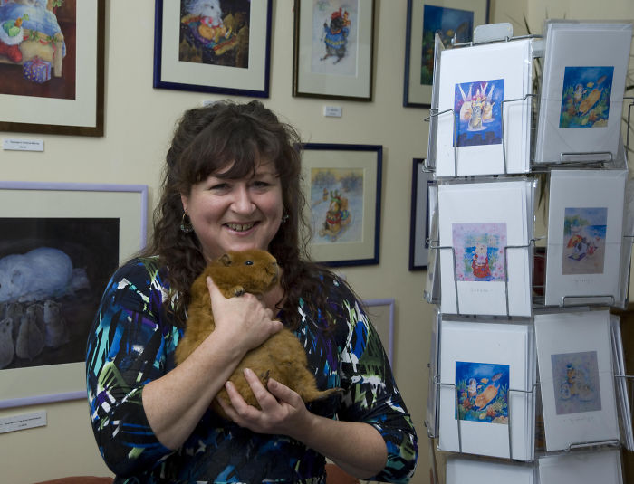 This Is Me With My Fat Boy, Henley During An Exhibition Of My Work.