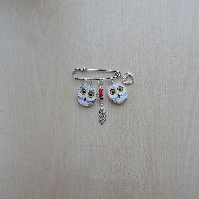 Valentine's Day Gift, Owls Brooch