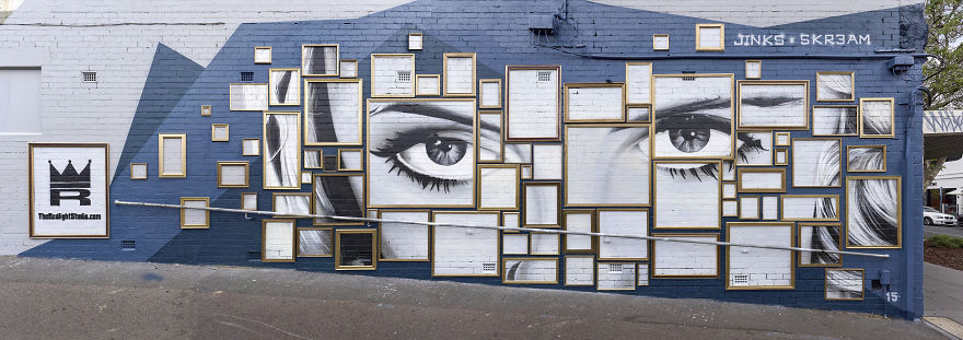 We Created A Mural Out Of Frames In Melbourne | Bored Panda