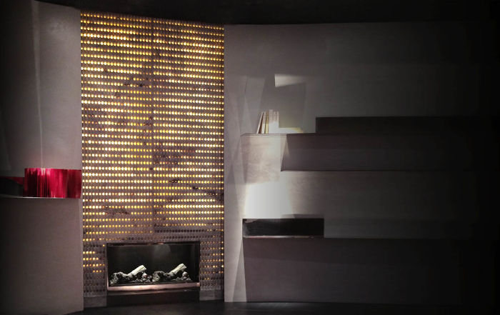 The Origami Fireplace