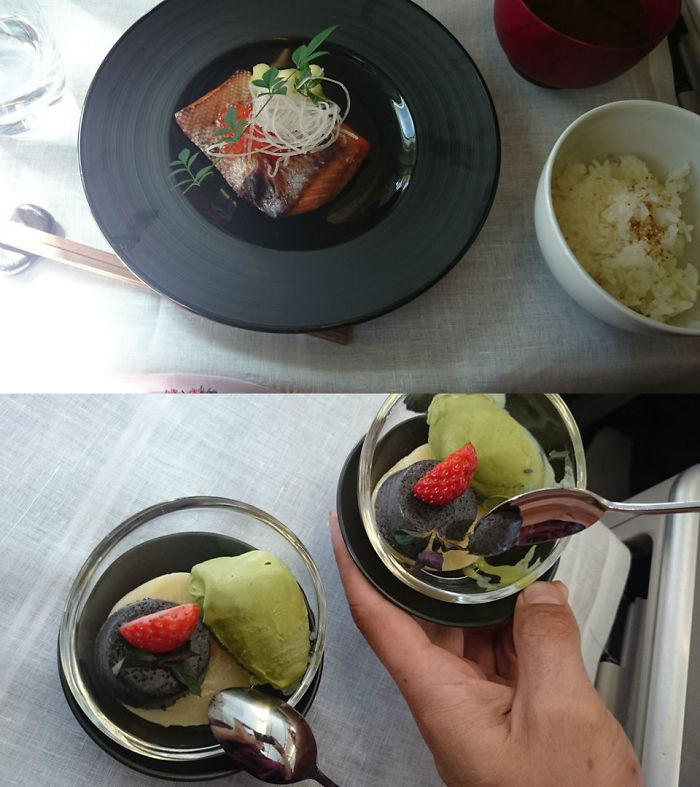 Garuda Indonesia - 1st Class (main Course And Dessert From 3course Meal)
