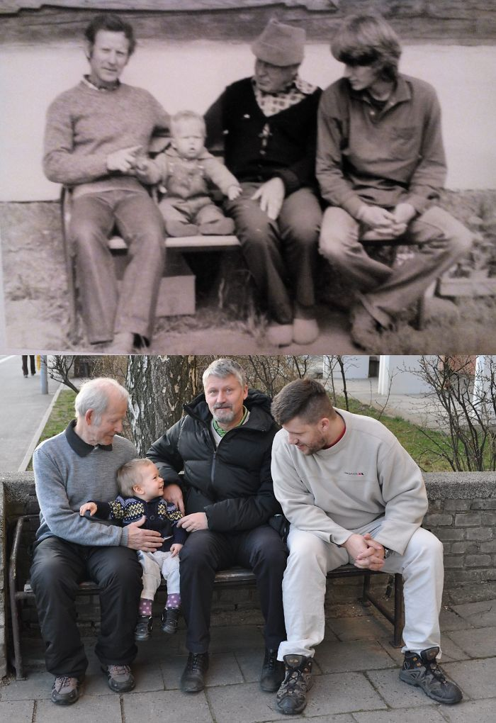 My Greatgrandfather, Grandfather, Father And Me Vs. My Grandfather, Father, Me And My Son