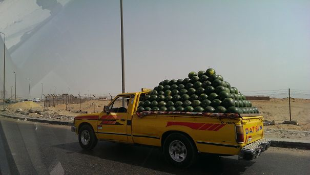 Truckload Of Melons, Giza, Egypt
