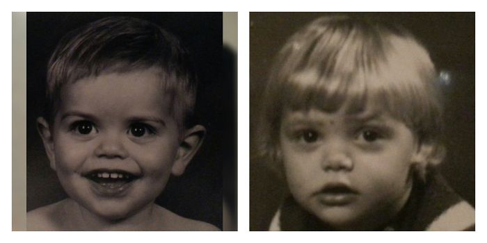 Our Older Son At The Age Of 2 And My Husband At Same Age