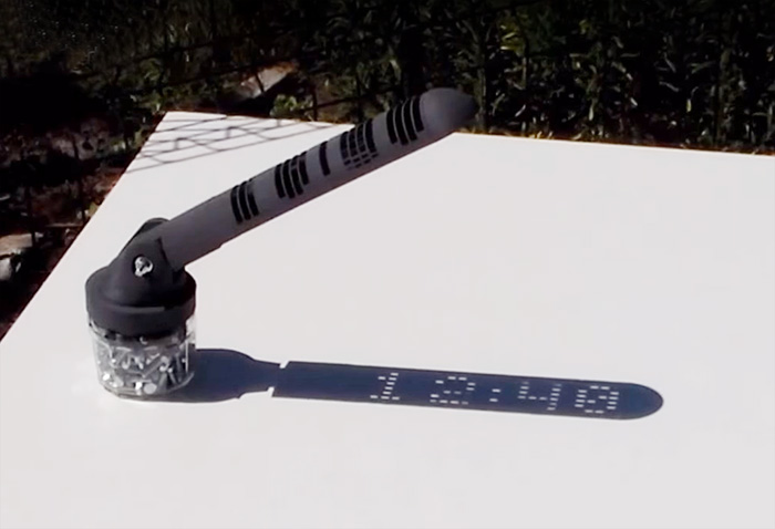 3D-Printed Sundial Displays Time Like A Digital Clock