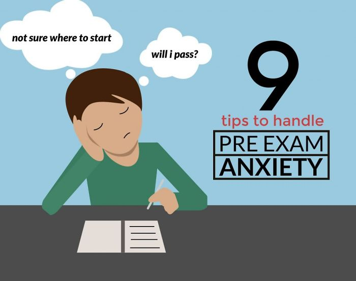 9 Proven Tips To Handle Pre-exam Anxiety