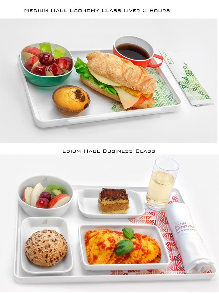 Alitalia - Medium Haul Economy Class Over 3 Hours & Medium Haul Business Class