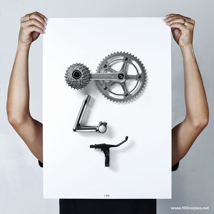 Bicycle + Emoji = Bikemoji From 100copies Bicycle Art