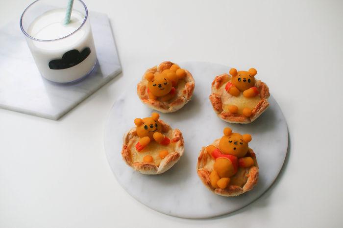 Pooh Bear Bread Cups
