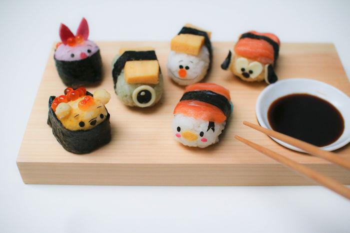 Disney Tsum Tsum Sushi