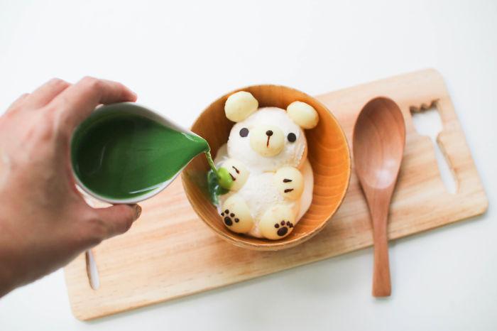 Teddy Bear Match Affogato