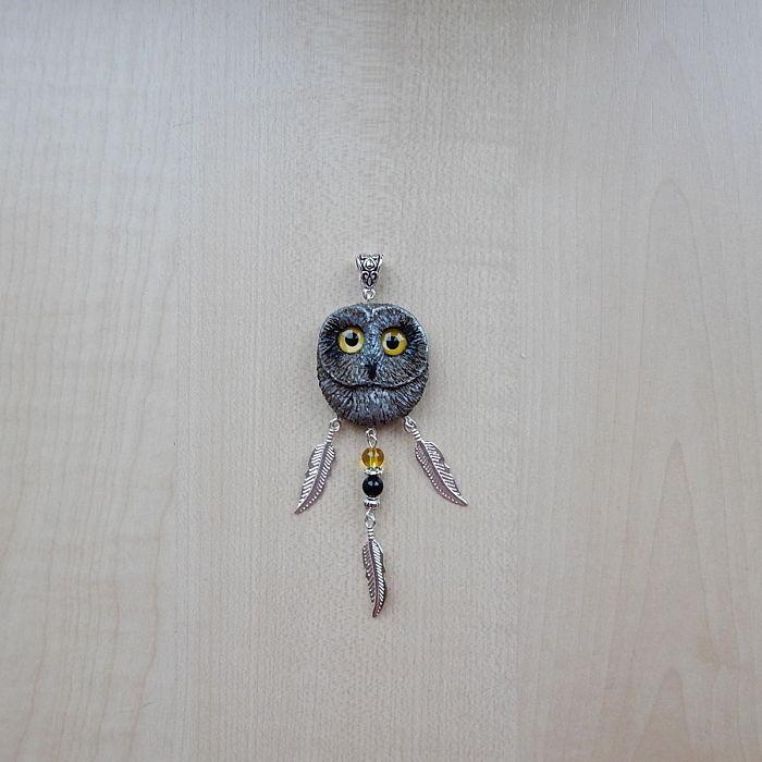 Short-eared Owl Pendant