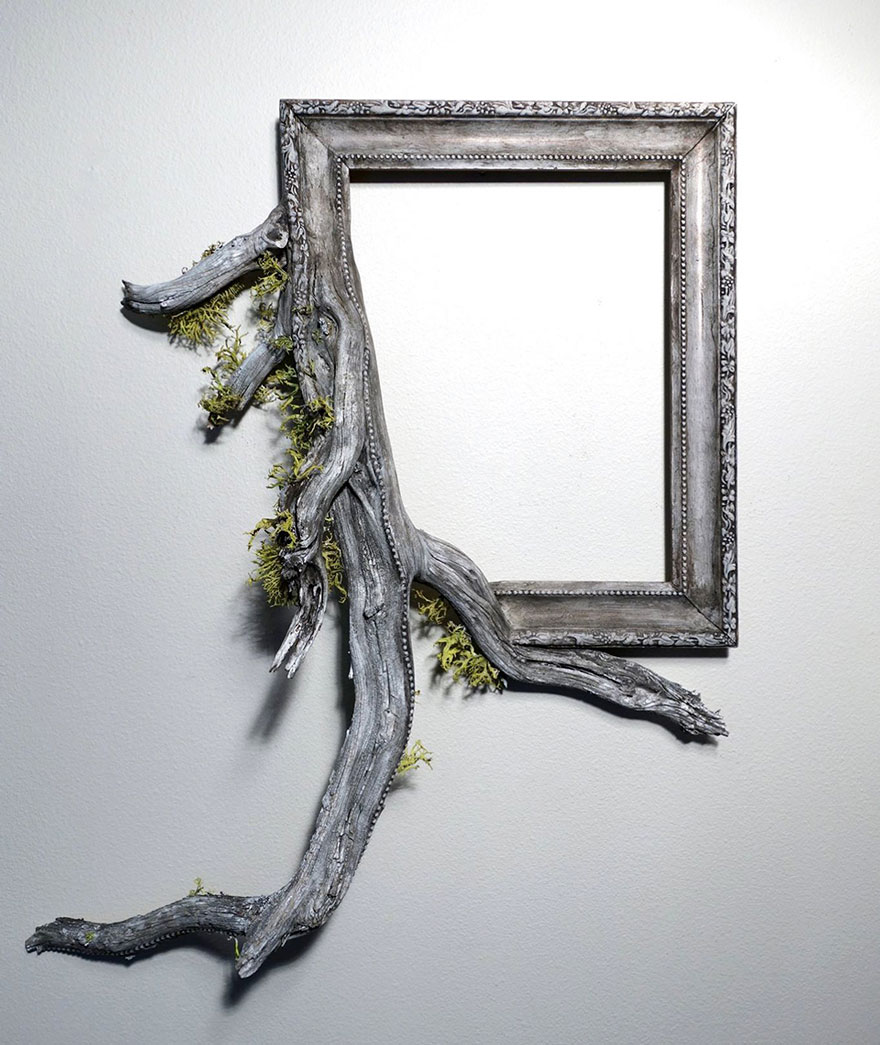 I Give A Second Life To Dead Trees By Fusing Them With Picture Frames |  Bored Panda