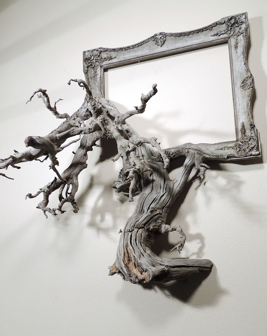 I Give A Second Life To Dead Trees By Fusing Them With Picture Frames