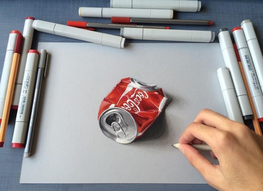 Hyper-realistic Drawings Of 19-year-old Male From India
