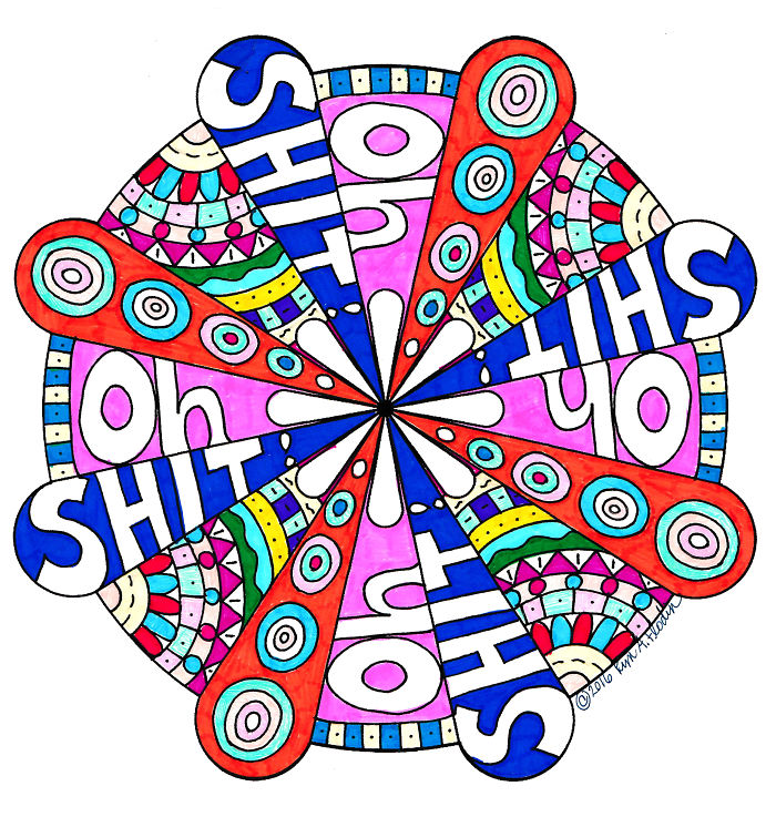 I Create Whimsical Sweary Word Mandalas To Help People Cope…