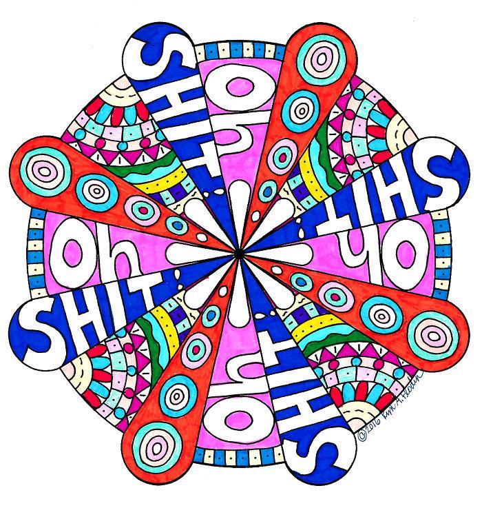 I Create Whimsical Sweary Word Mandalas To Help People Cope…