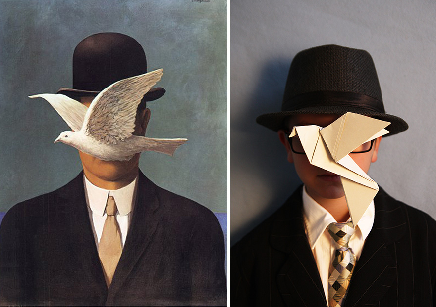 Rene Magritte Man In A Bowler Hat 1964