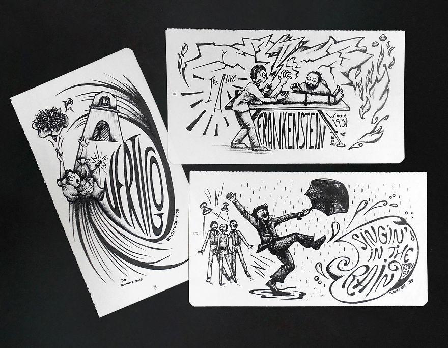 Vertigo1, Alfred Hitchcock, 1958 // Frankenstein, James Whale, 1931 // Singin' In The Rain, Stanley Donen & Gene Kelly, 1952