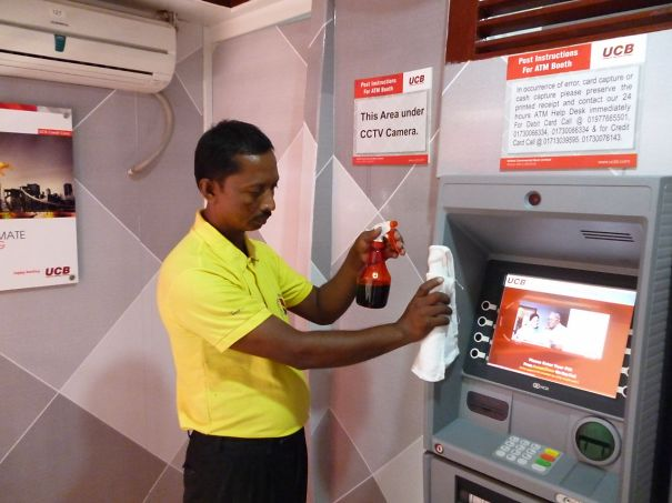 While There Is No One To Withdraw A Cash In Bangladesh