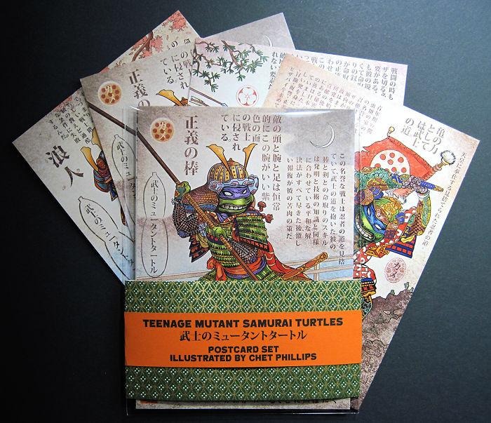 Samurai Turtles Postcard Set