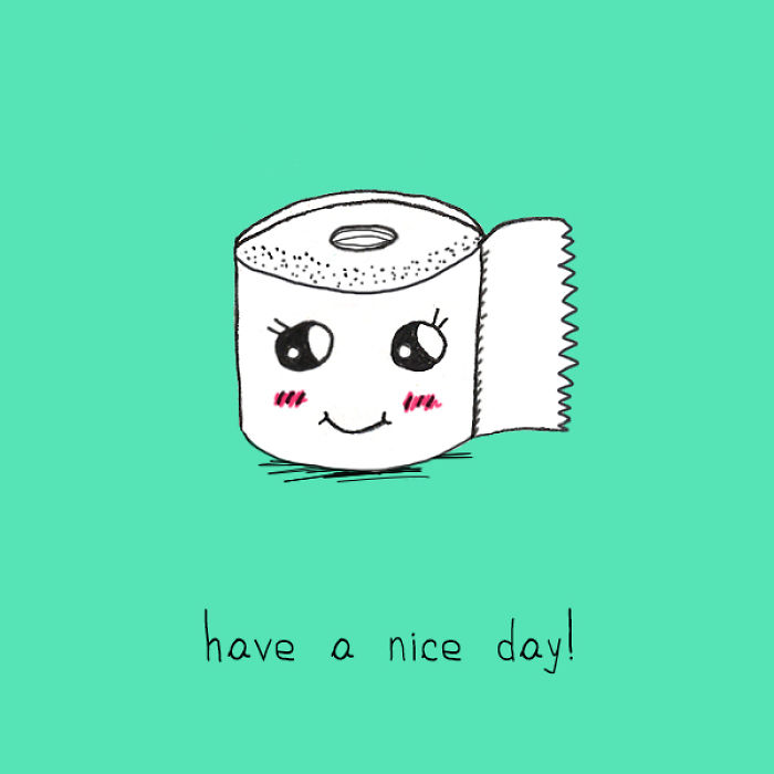 We Draw Everyday Objects That Wish You A Nice Day So You Can Survive Spring Blues