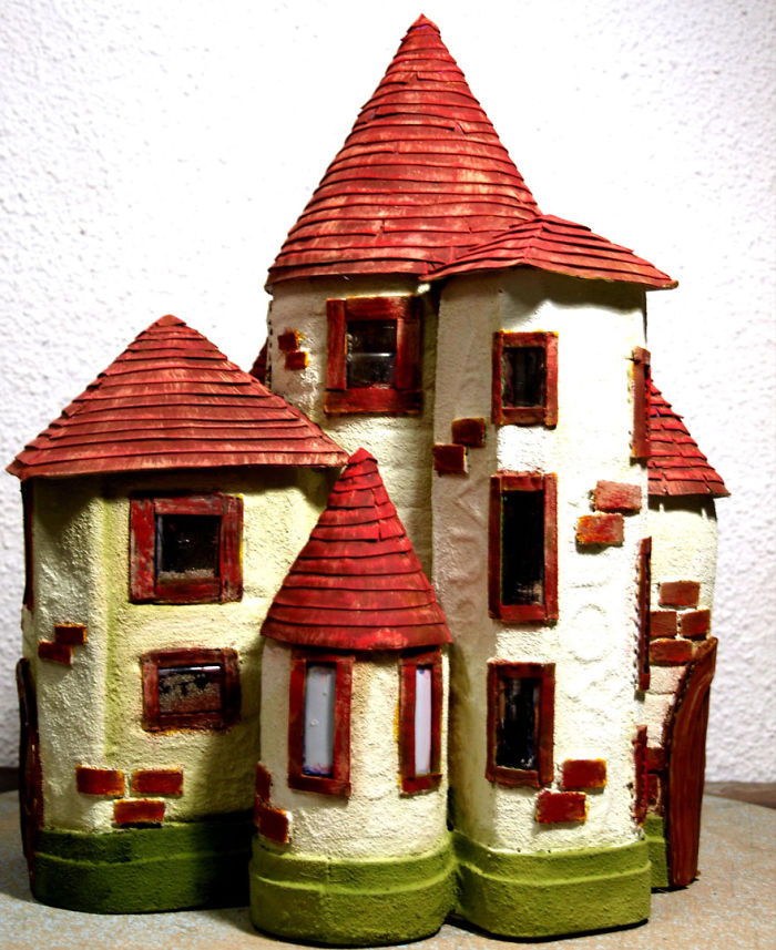 We've Just Recycled Some Plastic Bottles Into A Fairytale House