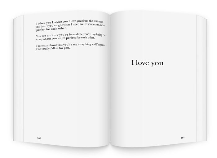 "A 300 Pages Book To Say ""i Love You"""