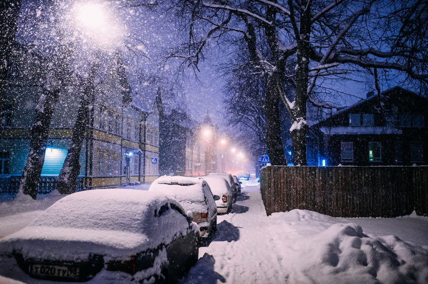 After Missing My Bus I Decided To Walk Home In A Blizzard And Photograph My City Tallinn