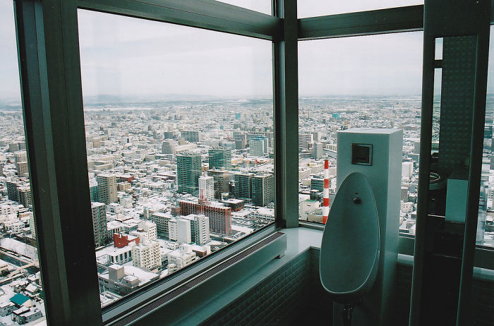 Toilet With A View In Sapporo Jr Tower, Japan